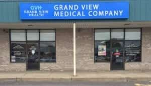 Exterior shot of GVH Grand View Medical Company storefront.
