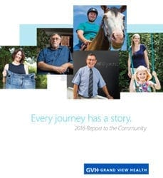 """""""Every Journey Has A Story."""" 2016 Report to the Community cover."""